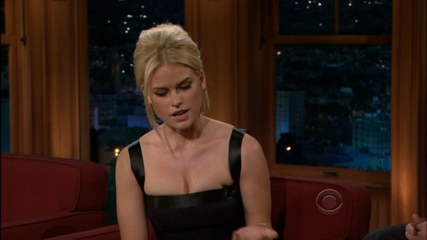 Alice Eve on 'Late Night with Craig Ferguson' - 17th April, 2012