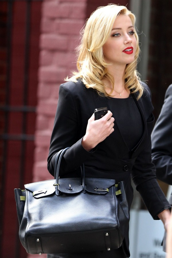 Amber Heard out in Greenwich Village in New York