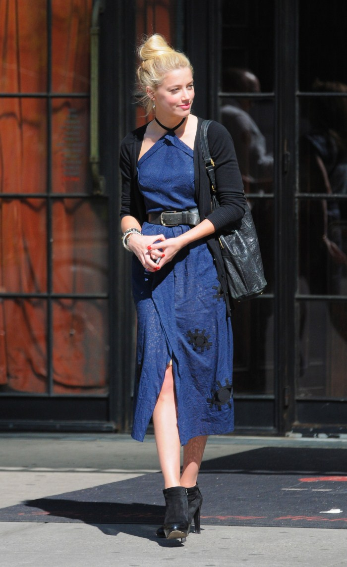 Amber Heard - Outside her hotel in New York City - 6th May, 2012