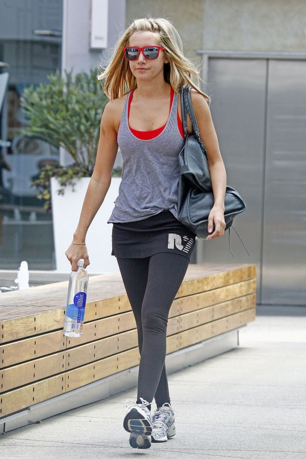 Ashley Tisdale Looking HOT as she leaves Gym in LA - July 15, 2011