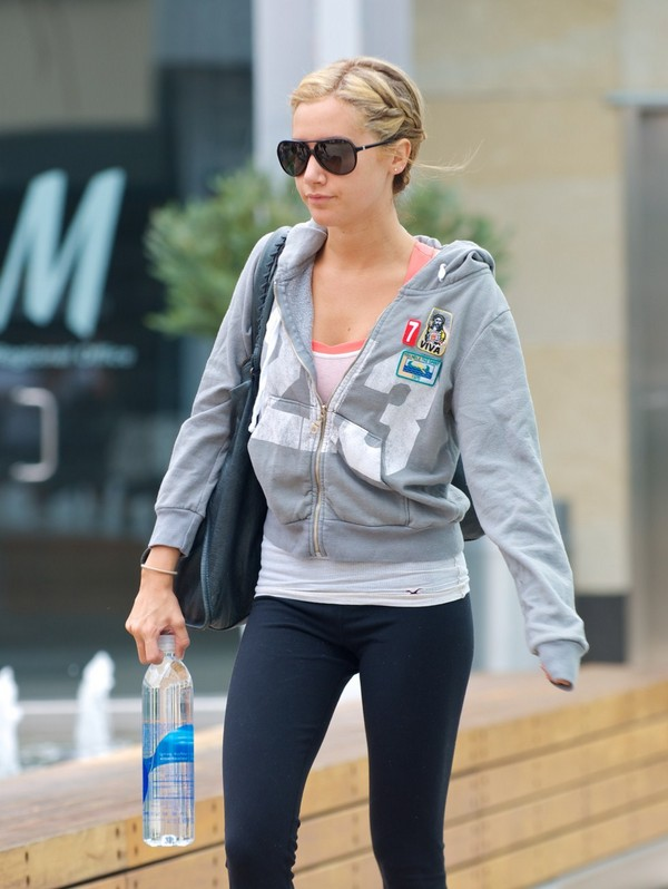 Ashley Tisdale outside Equinox Gym in Los Angeles - July 11, 2011