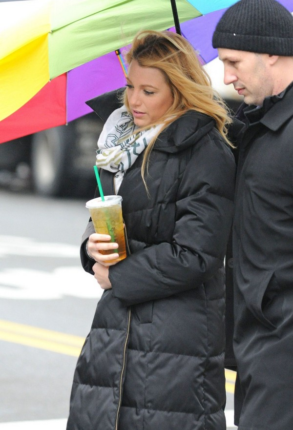 Blake Lively at Gossip Girl set in New York 1st March, 2012
