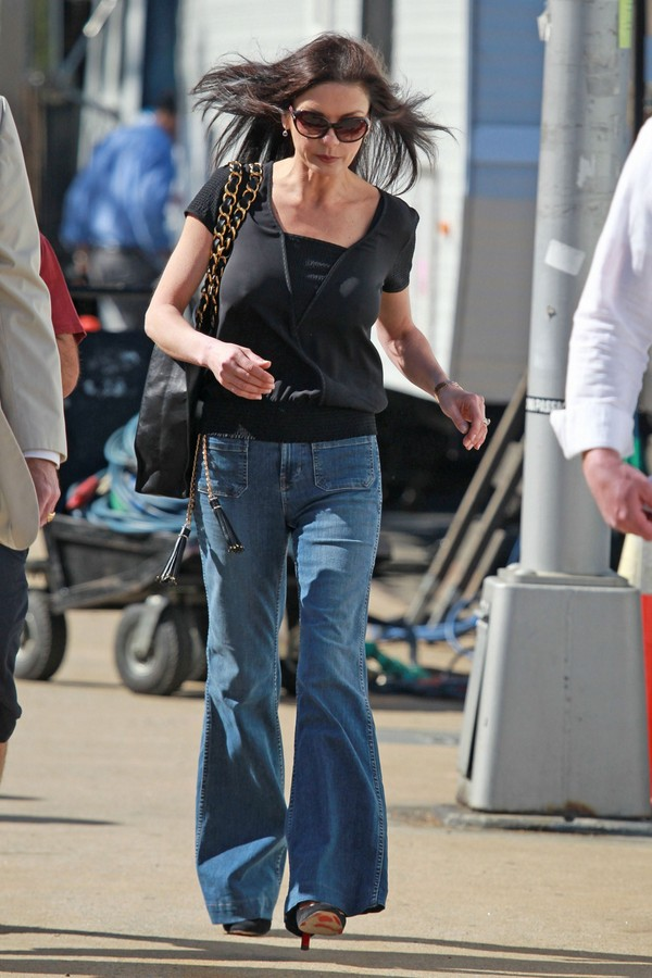 Catherine Zeta-Jones On the Sets of 'The Bitter Pill' in New York - 17th April, 2012