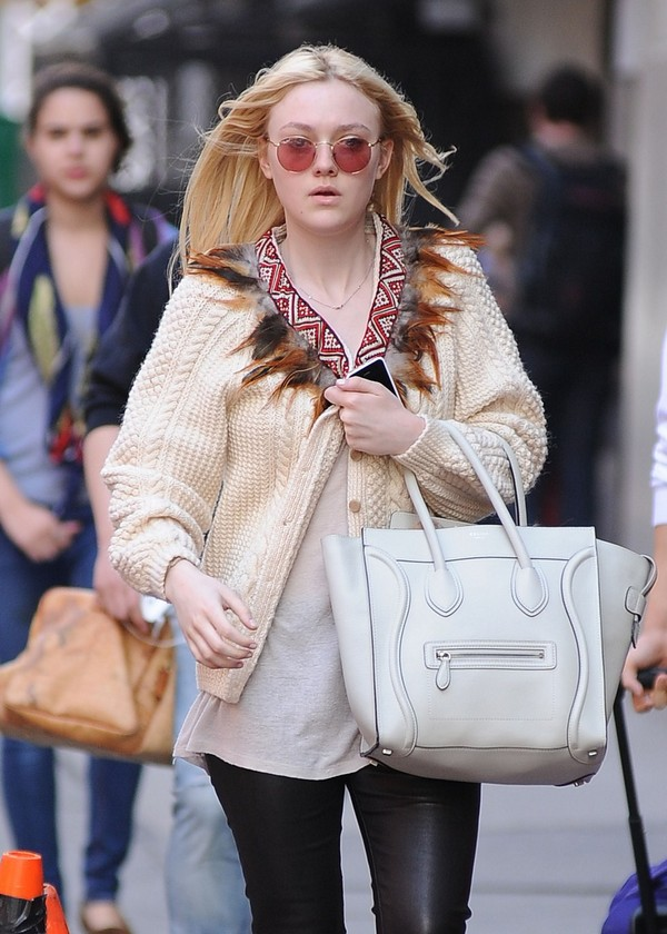 Dakota Fanning out in Soho