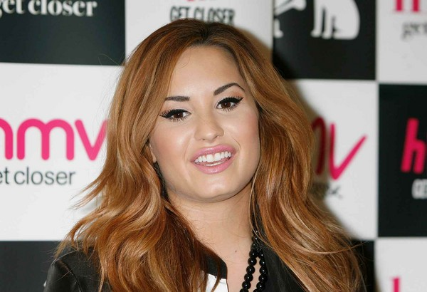 Demi Lovato at HMV Oxford Circus Store Signing in London