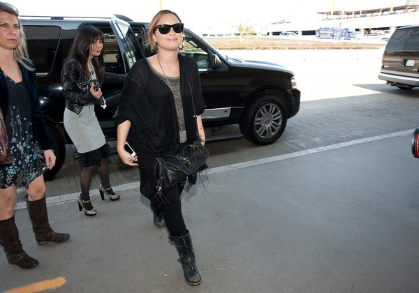 Demi Lovato at LAX - 12th March, 2012