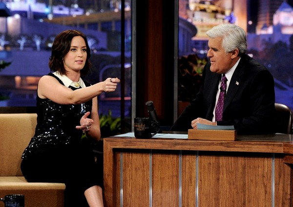 Emily Blunt - on The Tonight Show with Jay Leno - 2nd March, 2012