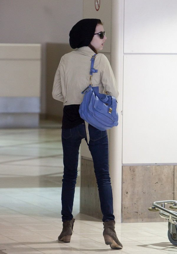 Emma Roberts - at LAX Airport in Los Angeles - 7th March, 2012
