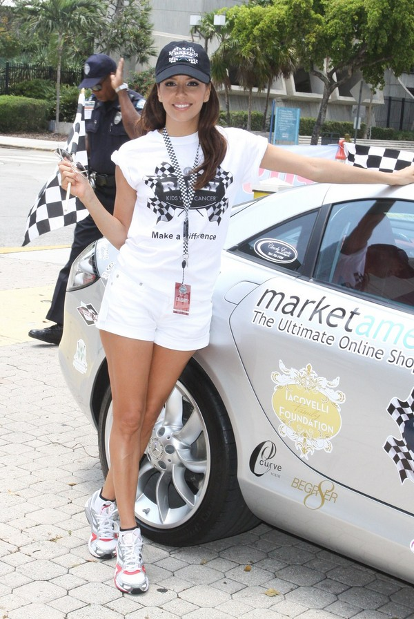 Eva Longoria at Rally For Kids With Cancer 'Start Your Engines' Brunch - Pit Stops