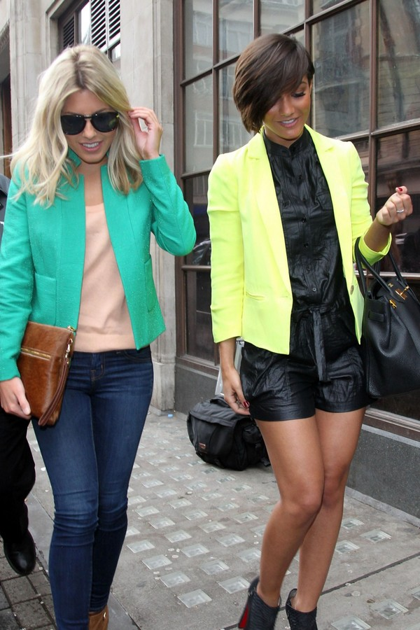 Frankie Sandford and Mollie King at Radio 1 studios London - 8th May, 2012