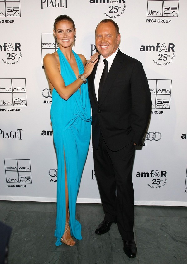Heidi Klum at 2nd Annual AmfAR Inspiration Gala in NYC