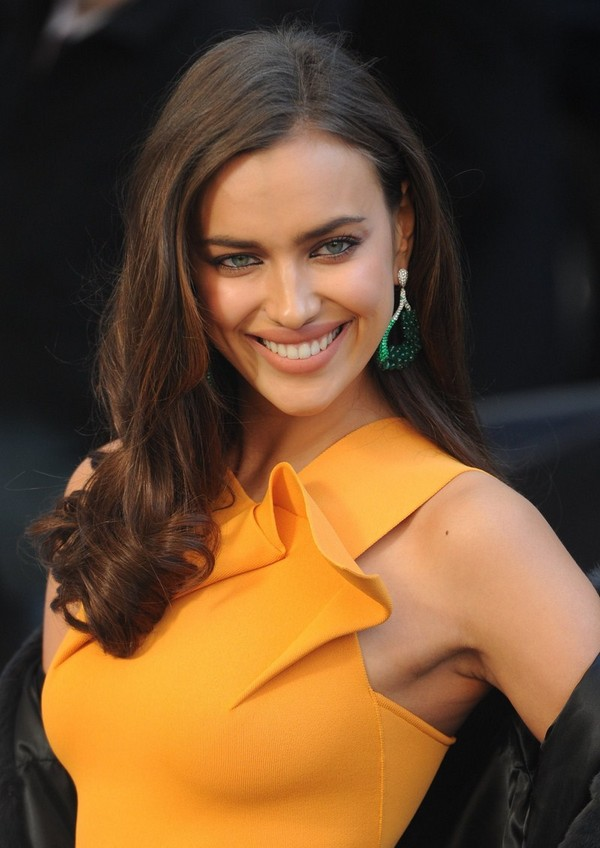 Irina Shayk arrives at the Late Show with David Letterman
