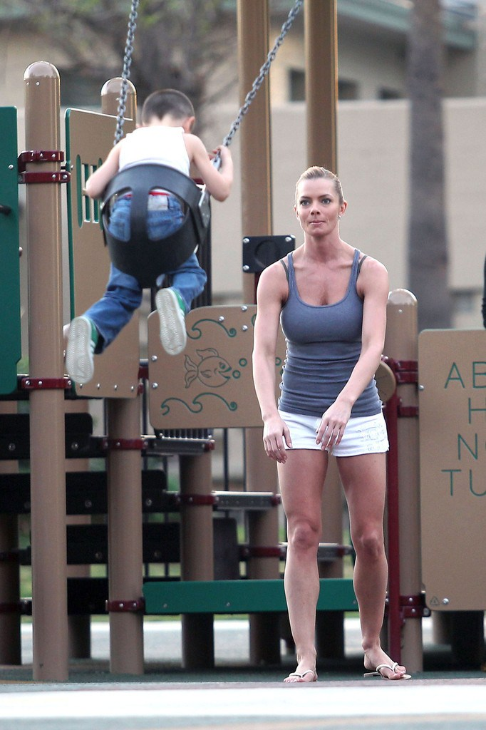 Jaime Pressly - At the park in Los Angeles - 28th February, 2012