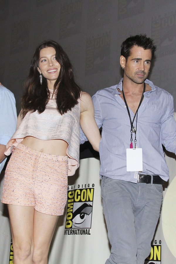 Kate Beckinsale & Jessica Biel at Total Recall panel at Comic Con - July 21, 2011