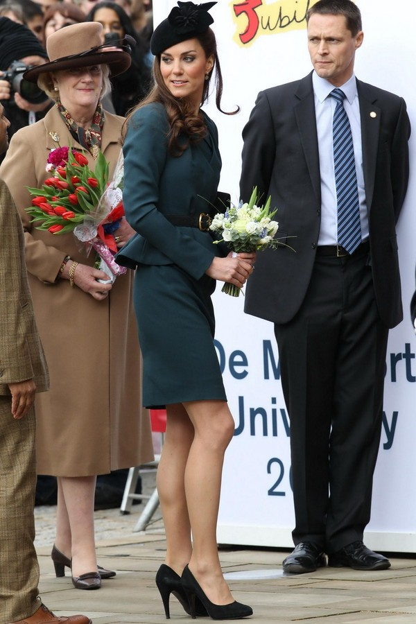 Kate Middleton at Queen Elizabeth II's Diamond Jubilee Tour in Leicester - 8th March, 2012