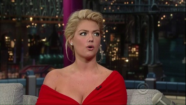 Kate Upton with Letterman - 14th February, 2012
