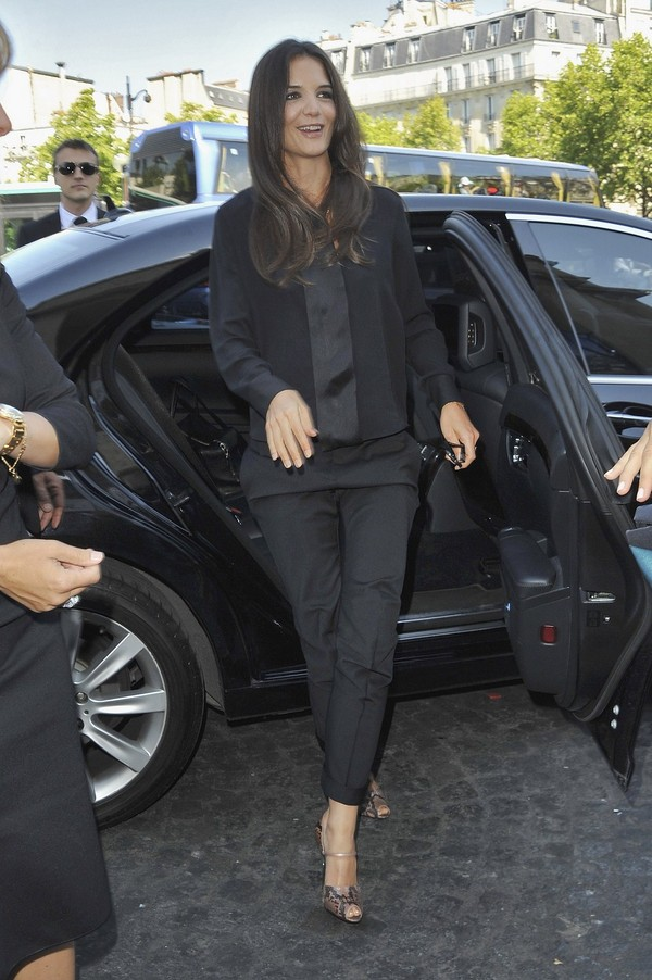 Katie Holmes at Giorgio Armani Haute Couture FW 2011-2012 Show in Paris - July 05, 2011