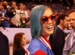 Katy Perry at the Super Bowl in Indiana