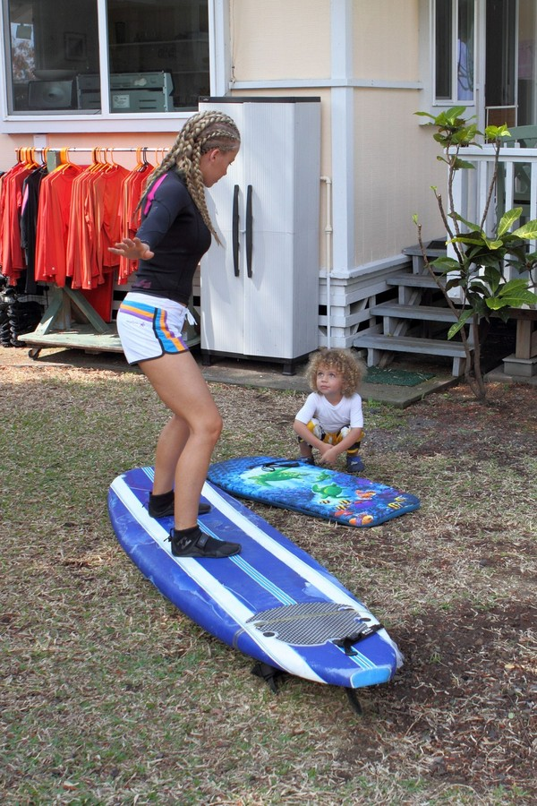 Kendra Wilkinson Surfing in Hawaii - 24th February, 2012