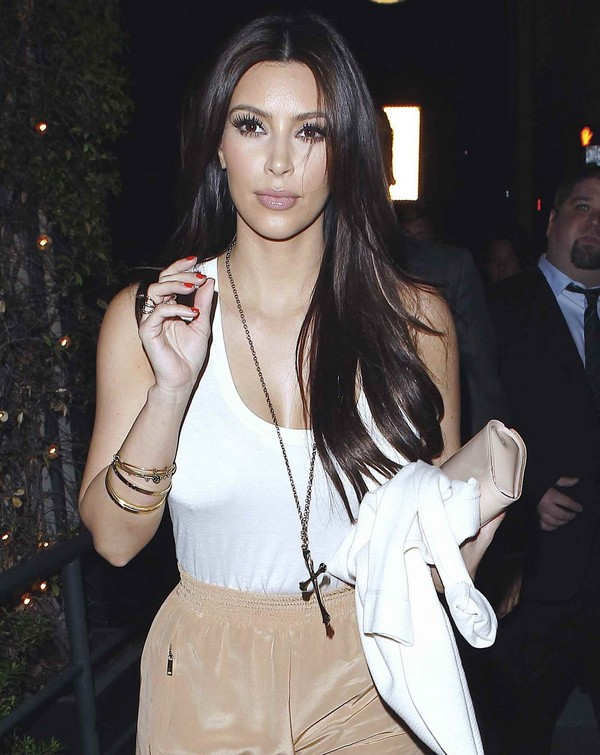 Kim Kardashian Films for her Reality Show in L.A. - 9th April, 2012
