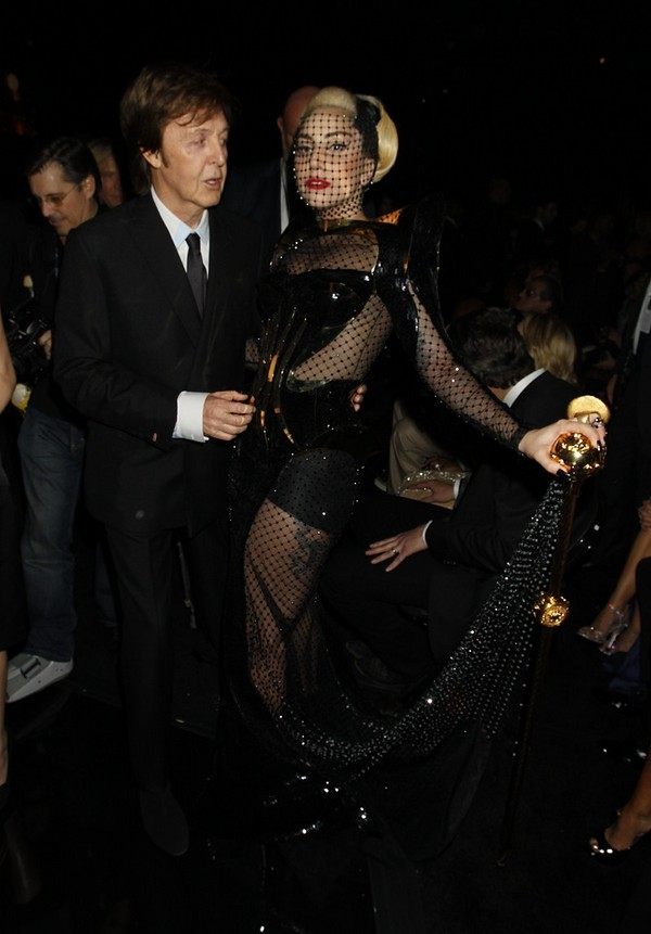 Lady Gaga - in the audience at the 54th annual Grammy Awards - 12th February, 2012