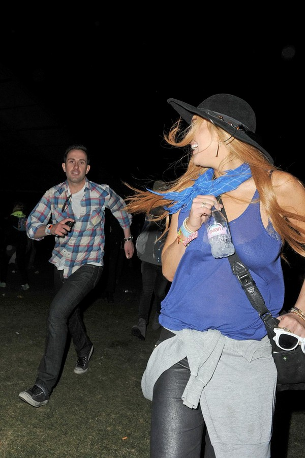 Lindsay Lohan Out & About at Coachella