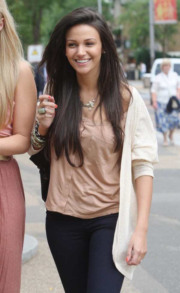 Michelle Keegan outside London Studios July 2011