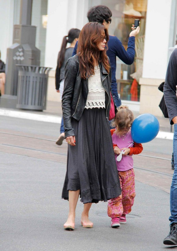 Michelle Monaghan Shopping at the Grove with Her Family - 23rd March, 2012