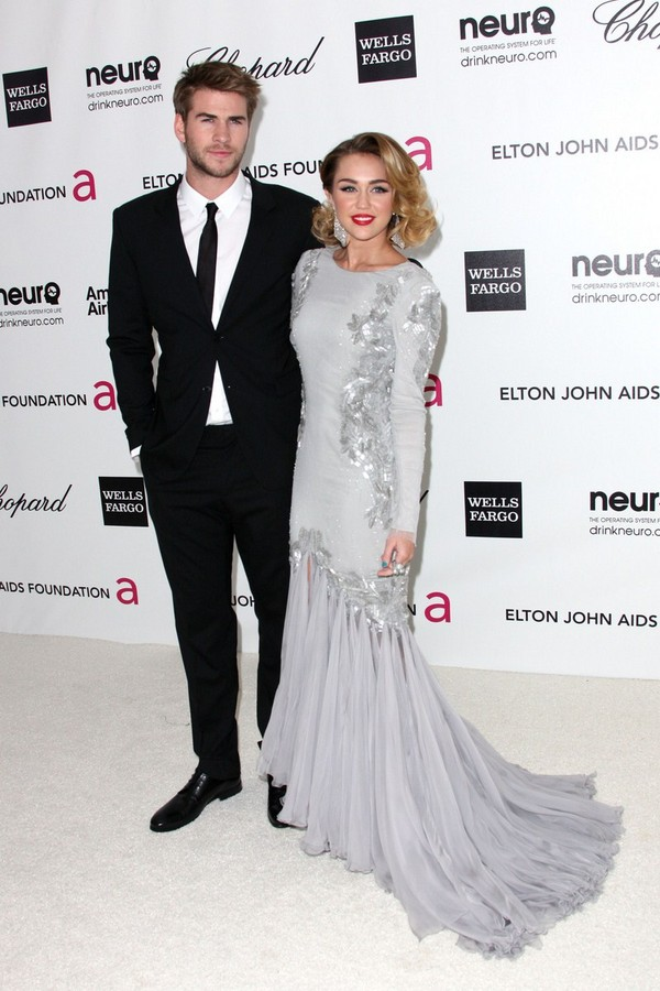 Miley Cyrus - Elton John AIDS Foundation Academy Awards Party - 26th February, 2012