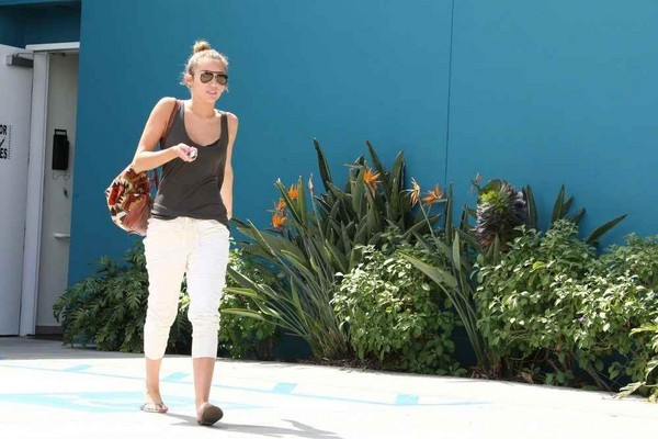 Miley Cyrus Leaving a Palates Class in West Hollywood on March 28, 2012