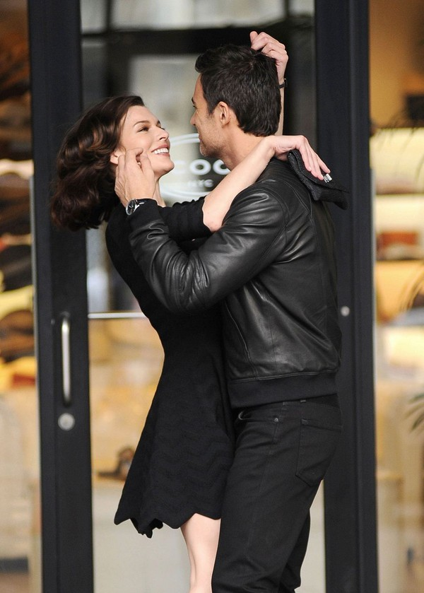 Milla Jovovich On the Sets of for ad campaign for 'Avon' in NYC - 9th May, 2012