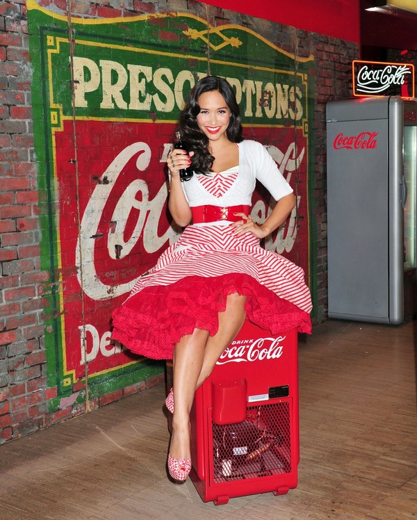 Myleene Klass at Coca Cola's Pop Up Soda Bar Launch Photocall in London