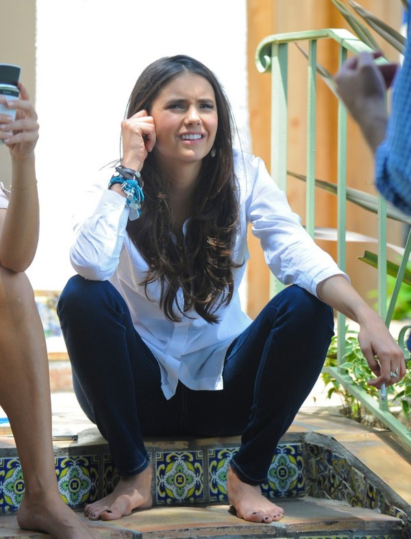 Nina Dobrev on the sets of a photoshoot in West Hollywood - July 07, 2011