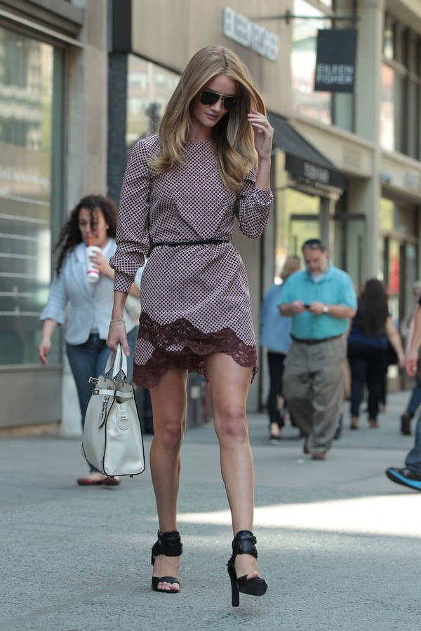 Rosie Huntington - Out & About in NYC - 16th April, 2012