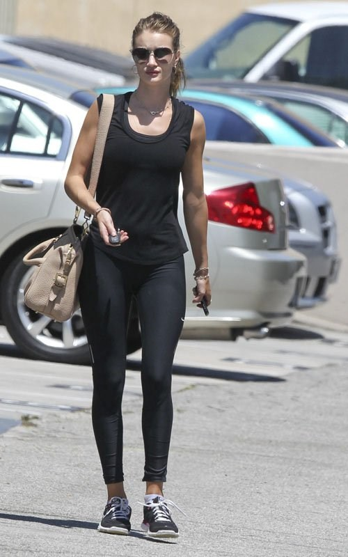 Rosie Huntington Whiteley out for Workout