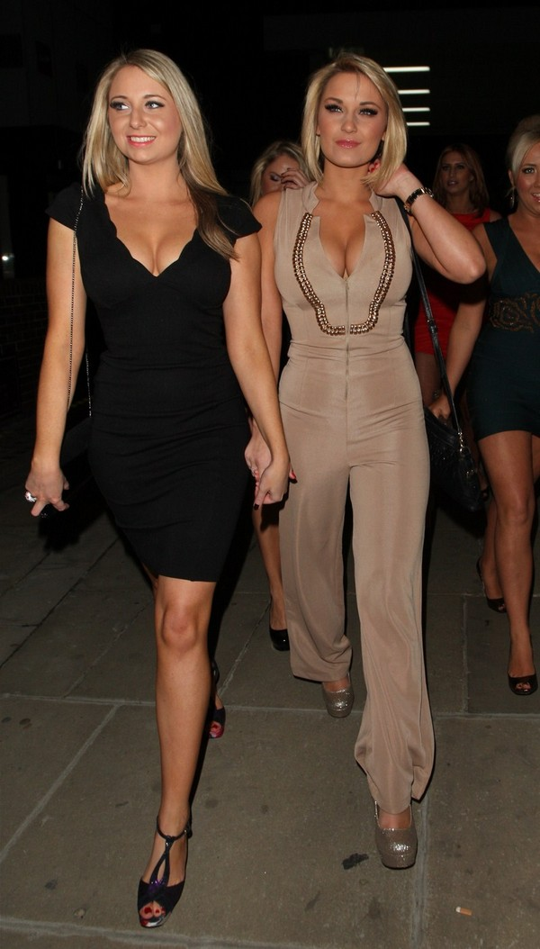 Sam & Billie Faiers arriving at Dolls House Club, London - 25th February, 2012