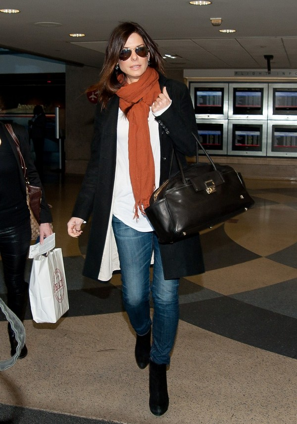 Sandra Bullock arriving at LAX - 9th February, 2012