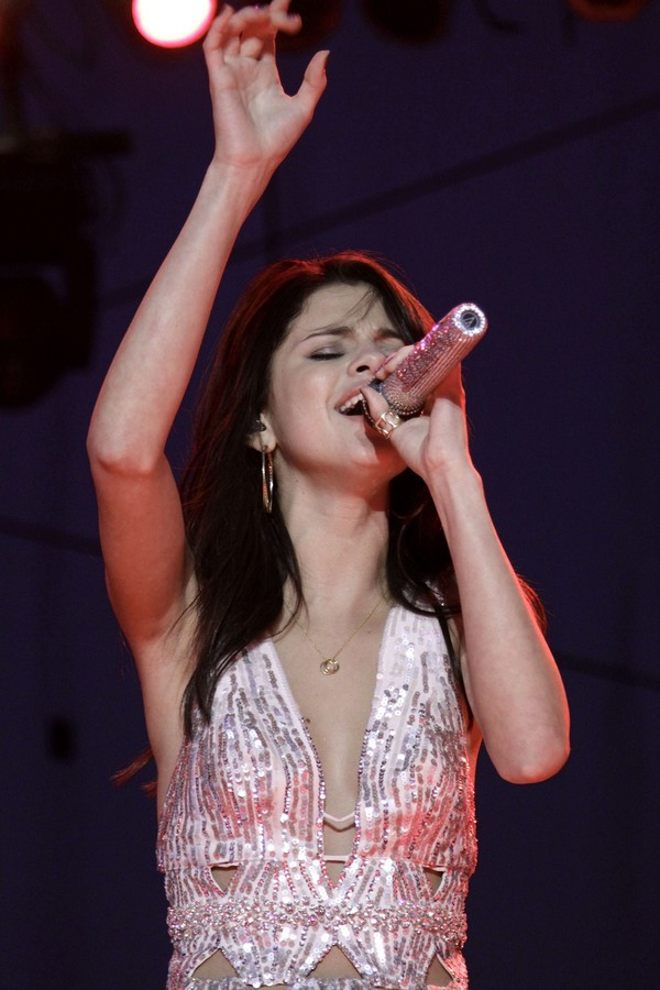 Selena Gomez performing in Paso Robles on July 25, 2011