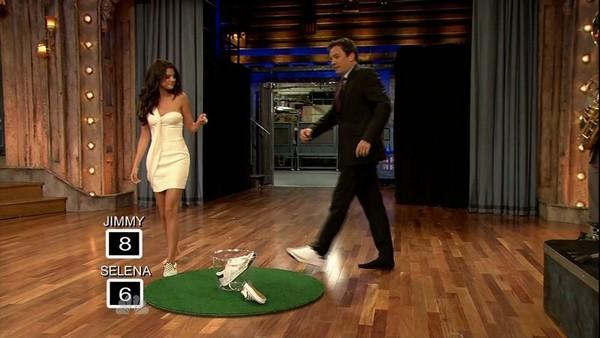 Selena Gomez with Jimmy Fallon at TV Show - Screen Caps - June 23, 2011