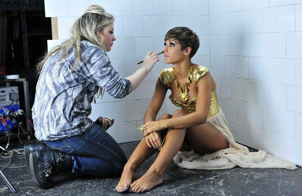 The Saturdays - Behind The Scenes Of Their Music Video - All Fired Up - 2011