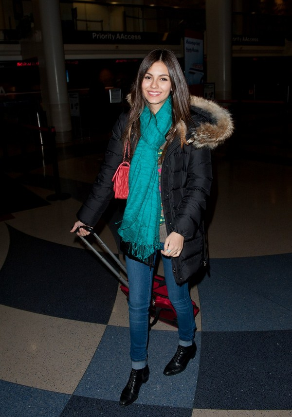 Victoria Justice - Looking Cute Departing from LAX Airport in Los Angeles - 18th February, 2012