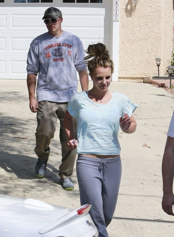 Britney Spears at a friend's house in L.A. on March 16, 2013