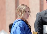 Halston Sage On the Sets of 'Rand Ravich' NBC Project in Los Angeles on March 26, 2013