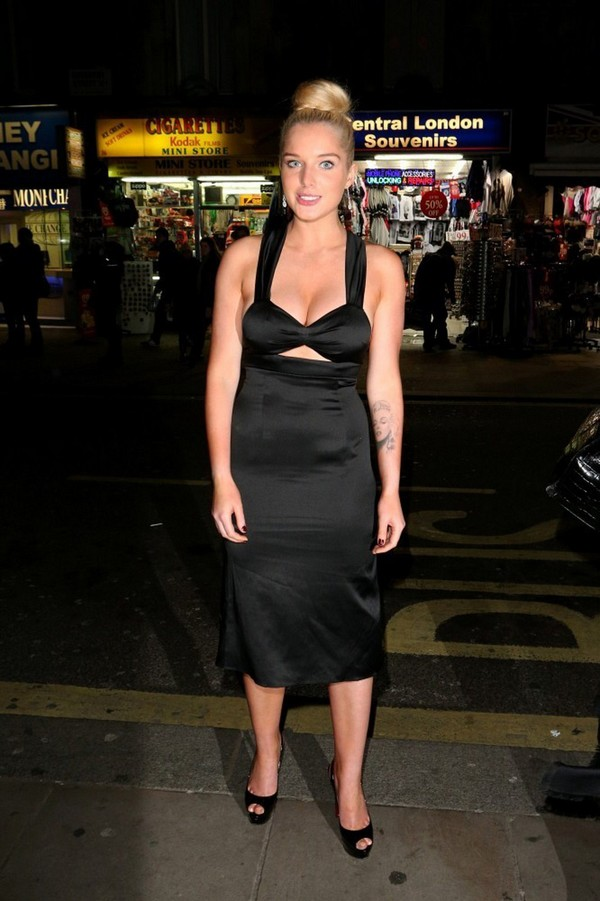 Helen Flanagan at the 2013 Chortle Comedy Awards in London