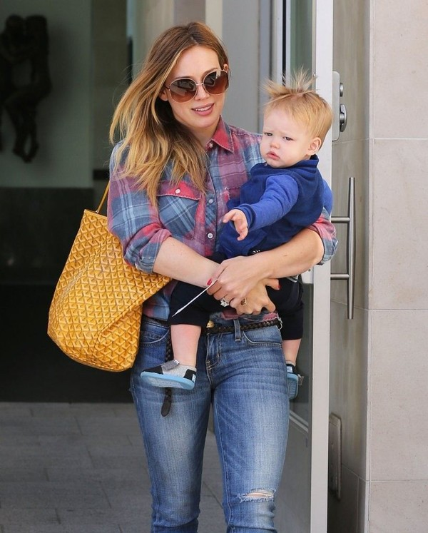 Hilary Duff at a friend's house in Beverly Hills on March 14, 2013