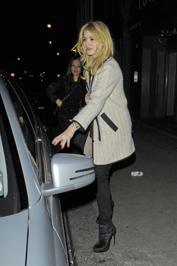 Holly Willoughby at Groucho Club in London on March 15, 2013