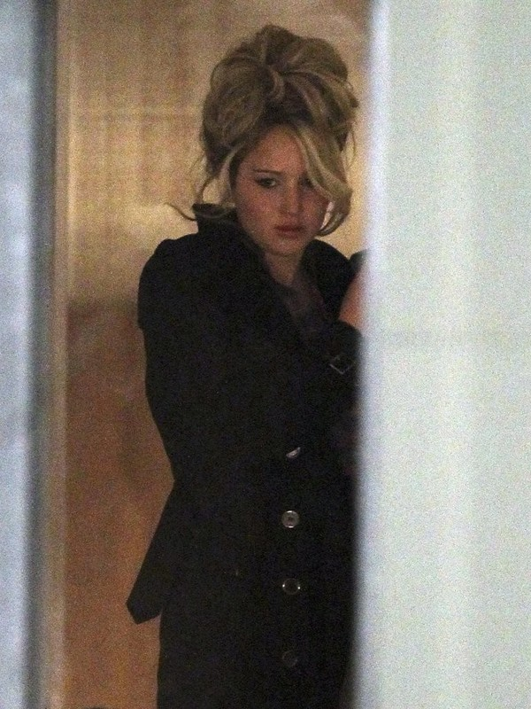 Jennifer Lawrence On the Sets of 'Abscam' in Boston on March 22, 2013