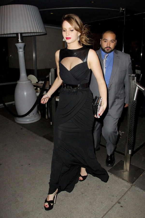 Jennifer Lawrence out for dinner at Katsuya in LA - Januray 10, 2013