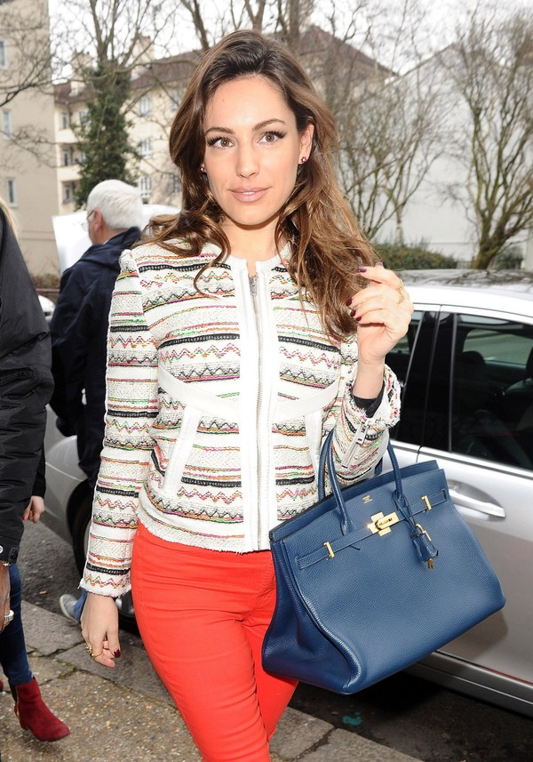 Kelly Brook leaving her home in London on March 20, 2013