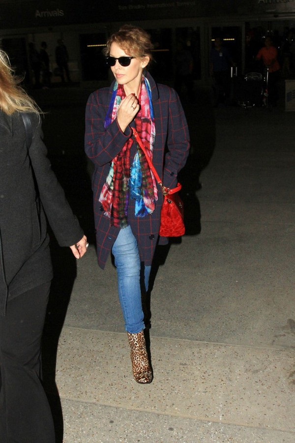 Kylie Minogue At LAX airport in Los Angeles on March 16, 2013